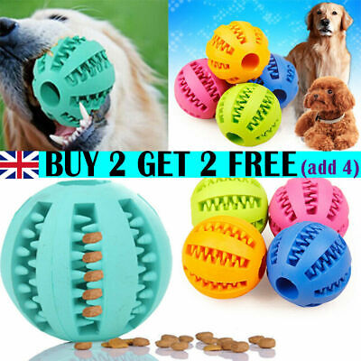 Pet Dog Puppy Teething Dental Health Treat Clean Toy Durable Rubber Ball Chew GB • 4.59£