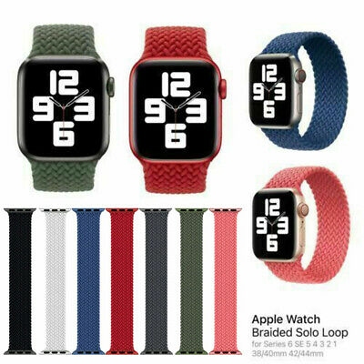 AU16.99 • Buy Braided Solo Loop Strap For IWatch Apple Watch Series 6 SE 40mm 44mm Nylon Band