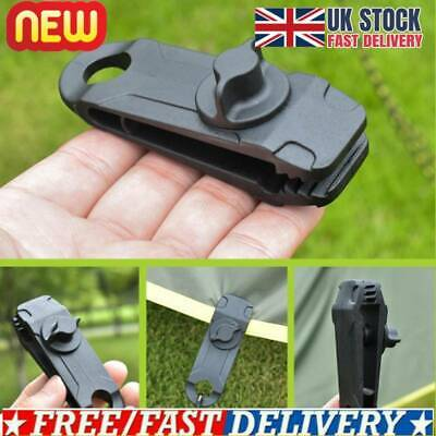 10 X Reusable Tent Tarp Tarpaulin Clips Clamps Buckle Camping Tool Heavy Duty UK • 8.43£