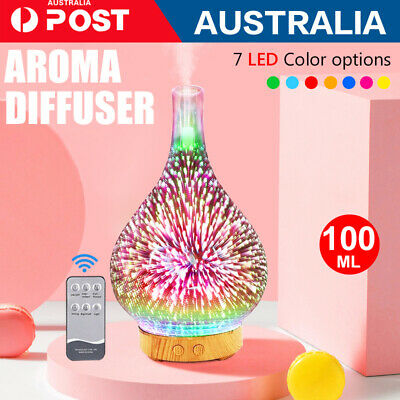 AU35 • Buy Aromatherapy Diffuser Humidifier Aroma 100ml Essential Oils Ultrasonic Mist LED