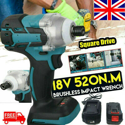 Cordless Brushless Torque Impact Wrench 18V With Makita DTW285Z Torque Drill UK • 43.99£