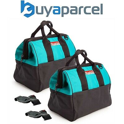 2 X Makita 14  36cm Open Mouth LXT ToolBag Tool Bag Holdall Blue +Shoulder Strap • 49.99£