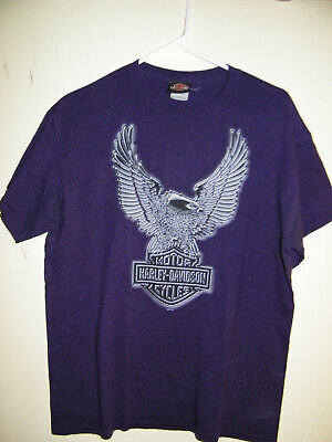 $ CDN7.84 • Buy Vintage Harley Davidson Chester's Fort Lauderdale Color Blue  T-Shirt Mens Sz M