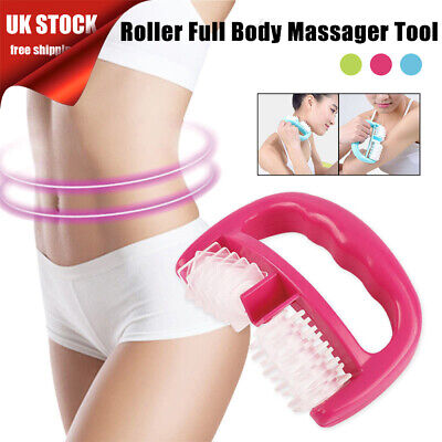 Handheld Full Body Anti Cellulite Massage Cell Roller Massager Wheel Pain Relief • 6.29£