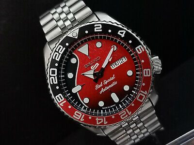 $ CDN271.64 • Buy Seiko Diver 7s26-0020 Skx007 Red Special Modded Automatic Watch 785104