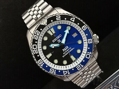 $ CDN134.18 • Buy Seiko Diver 7002-700j Padi Prospex Black Blue Mod Automatic Mens Watch 050112