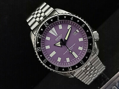 $ CDN73.02 • Buy Seiko Diver 7002-700a Purple Face Modded Automatic Mens Watch 553845