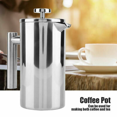 £16.99 • Buy 1000ml 8Cup Steel Cafetiere Coffee Maker French Press Plunger Pitcher Tea Filter