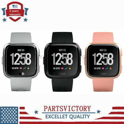 $ CDN89.92 • Buy NEW Smartwatch Fitness Activity Tracker With Black Pink Silver For Fitbit Versa