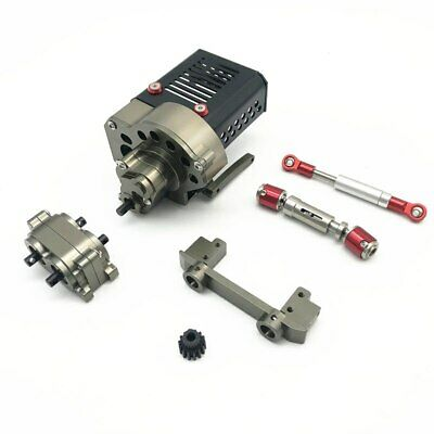 Metal Front Motor Gearbox Transmission Box For 1/10 RC Crawler Car Axial SCX10 • 86.99£