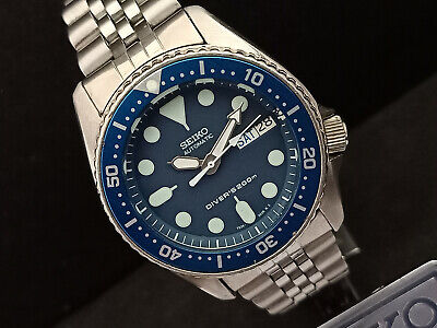 $ CDN94.24 • Buy Seiko Scuba Diver 7s26-0030 Skx013 Blue Face Mod Automatic Watch 780348