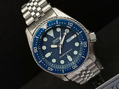 $ CDN25.48 • Buy Seiko Scuba Diver 7s26-0030 Skx013 Blue Face Mod Automatic Watch 030405