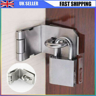 90 Degrees For Padlock Stainless Steel Hasp And Staple Gate Door Shed • 5.75£