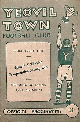 Yeovil Town V Southend United  F A Cup  1958/59 • 0.90£