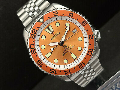 $ CDN134.18 • Buy Seiko Diver 7002-700a Stunning Orange Prospex Mod Automatic Mens Watch 1n0031