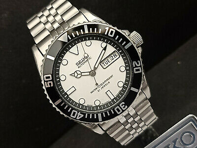 $ CDN66.76 • Buy Seiko Diver 7s26-0040 Skx031j White Submariner Mod Automatic Mens Watch 6n6184