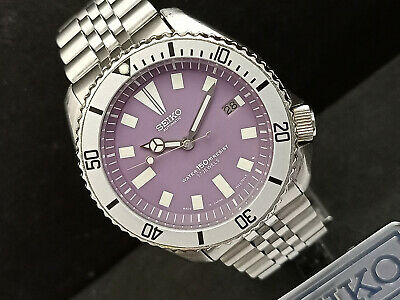 $ CDN99.49 • Buy Seiko Diver 7002-7000 Purple Face Modded Automatic Mens Watch 460553