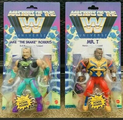 $67 • Buy WWE Masters Of The Universe Wave 4 Mr T And Jake The Snake - Unpunched
