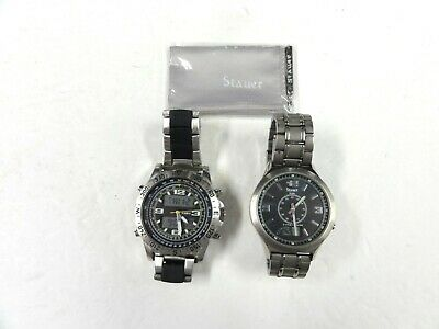 $ CDN5.54 • Buy Vintage Lot 2 Stauer Mens Wristwatches Atomic Chrono As Is For Parts Or Repair