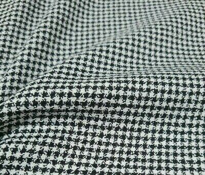 £4.99 • Buy Black And White Mini Checked Dressmaking Fabric - Sold By The Metre