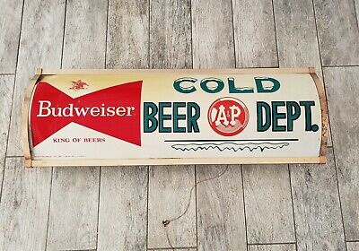 $ CDN112.37 • Buy VINTAGE  A & P MARKET BUDWEISER BEER LIGHT UP SIGN 3 Feet Long
