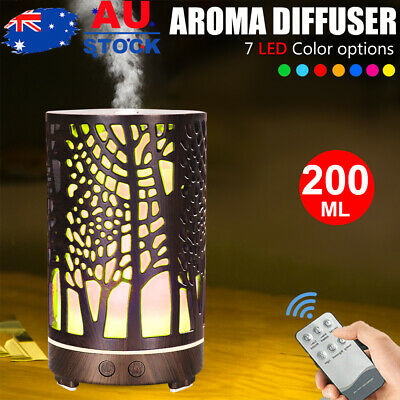 AU28.90 • Buy  200ml  Aroma Aromatherapy Diffuser Oil Electric Air Humidifier Essential Led