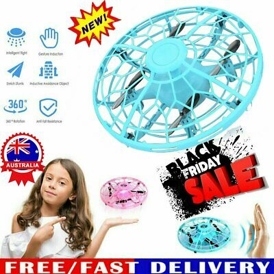 AU26.96 • Buy Mini Drones 360° Rotating Smart UFO Drone For Kids Flying Hand-Control Toys Xmas