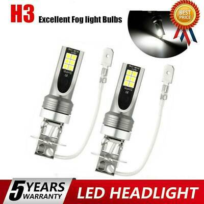 AU5.99 • Buy H3 LED Fog Light 200W Super Bright Chip Car Driving Bulb White DRL Lamp 6000K *2