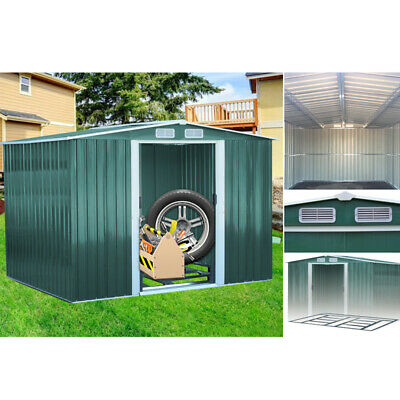 £489.95 • Buy 6 X 4, 8 X 6, 10 X 8 Garden Shed Metal Storage Utility Shed Outdoor Garage Tools