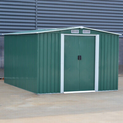 Metal Steel 10 X 8 Garden Shed Outdoor Storage Tool Sheds Building & Foundation • 479.94£