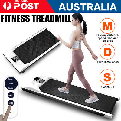 AU289.39 • Buy Electric Treadmill Walking Pad Home Office Exercise Machine Fitness LCD White