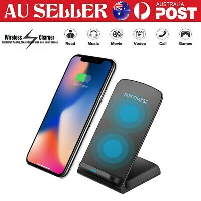 AU13.75 • Buy Qi Wireless Charger Dock Stand For IPhone 12 Pro 11 XS 8 Samsung S20 S10+ S9