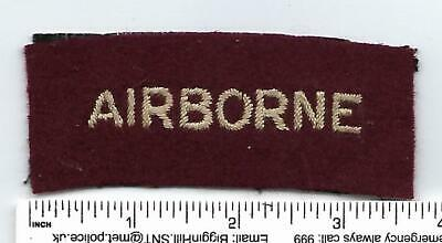 Ww2 Airborne Title Rectangle Type Embroidered • 17£