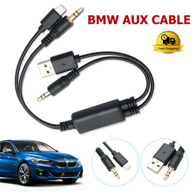 Y Cable Lead USB Audio AUX Adapter Interface For BMW MINI Ipod Iphone 5 6 7 8 XS • 11.98£