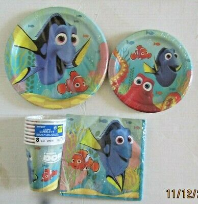 Dora Finding Nemo Party Decorations Pack Cups Plates Napkins Lot! • 4.15£