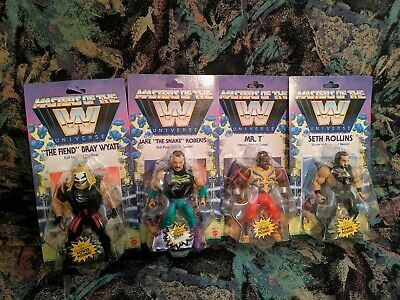 $117 • Buy WWE Masters Of The Universe Wave 4 Set Of 4 Action Figures THE SNAKE, MR T NIP