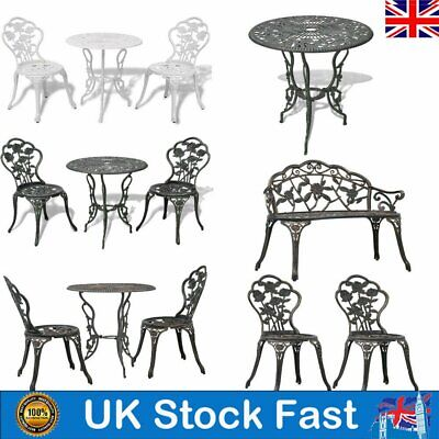 1/2/3pcs Bistro Set Cast Aluminium Outdoor Garden Patio Dining Table And Chairs • 176.49£