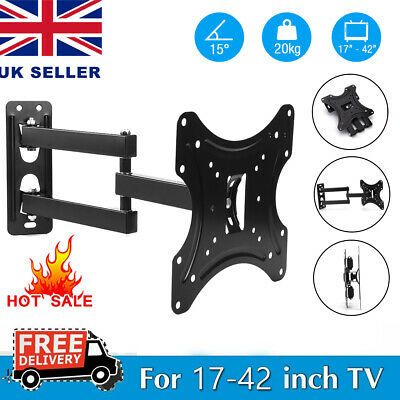 Tilt Swivel TV Wall Mount Bracket For 17 - 42 Inch LCD LED Plasma Flat Monitor • 1.99£