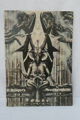 H.R Giger's Necronomicon (1979) – 1st Edition, 2nd Printing (English) VERY RARE • 150£
