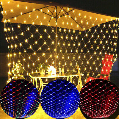 2*2M 3*2M LED Mesh Net Fairy Light For Christmas Tree Garden Outdoor Wedding UK • 14.30£