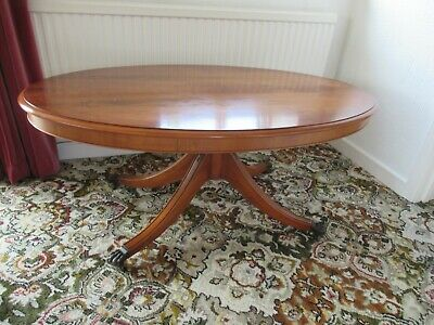 Vintage Oval Yew Coffee Table • 50£
