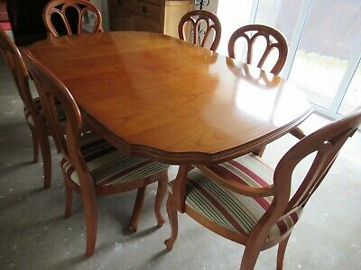 Vintage Younger Oval Yew Dining Table And Six Chairs • 100£
