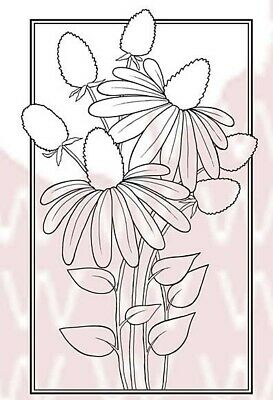 Woodware Clear Stamps - Cone Flower • 3£