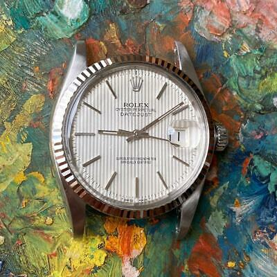 $ CDN3649.52 • Buy Rolex Datejust 16014 Tapestry Dial Vintage Watch 100% Genuine White Gold Bezel