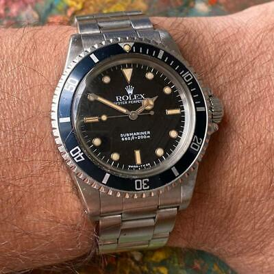 $ CDN8472.10 • Buy Rolex Submariner 5513 Diver Vintage Watch 100% Genuine Faded Bezel L Serial