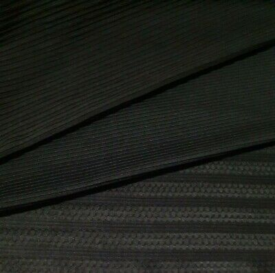 Black Striped Stretch Jersey (thick Like Ponte) Fabric - Sold By The Metre • 5.49£