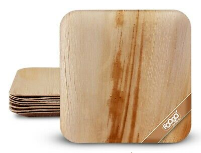£6.99 • Buy FOOGO Green Disposable Palm Leaf Plates Ecofriendly Bamboo Plates Picnic Camping