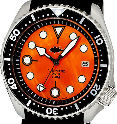 $ CDN58.15 • Buy Vintage Watch SEIKO Diver 7002 Mod W/Black Hands On Orange Mother Of Pearl Dial
