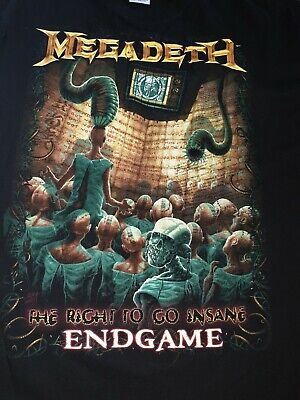 Megadeth Endgame The Right To Go Insane T Tee Shirt Xl New Extra Large • 11.99£