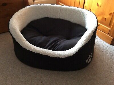 Pets At Home Dark Choc Medium Size Oval Dog Bed. Unused And 100% Clean. • 3.99£